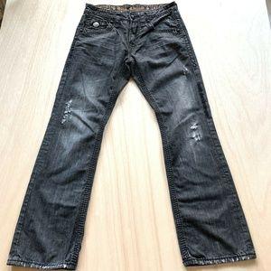 Rock Revival Jason Boot Black Jeans Mens Size 32